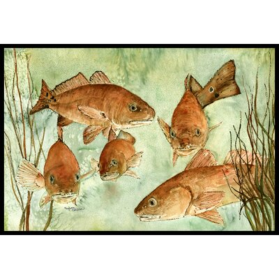Fish Swim Doormat Rug Size: 2 x 3