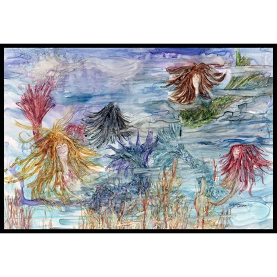 Abstract Mermaid Water Fantasy Doormat Mat Size: 16 x 23