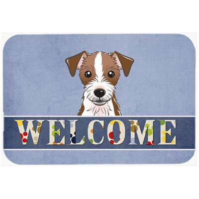 Jack Russell Terrier Welcome Kitchen/Bath Mat Size: 24 W x 36 L