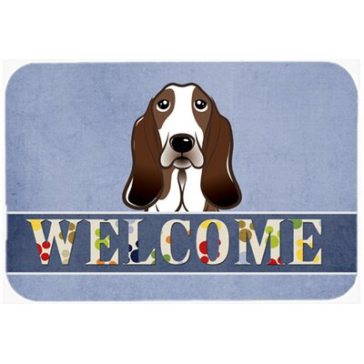 Basset Hound Welcome Kitchen/Bath Mat Size: 24 W x 36 L