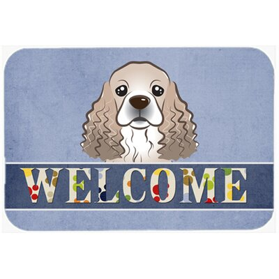 Cocker Spaniel Welcome Kitchen/Bath Mat Size: 24 W x 36 L