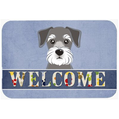 Schnauzer Welcome Kitchen/Bath Mat Size: 24 W x 36 L