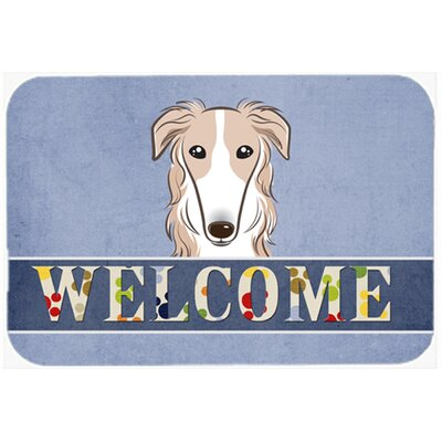 Borzoi Welcome Kitchen/Bath Mat Size: 24 W x 36 L