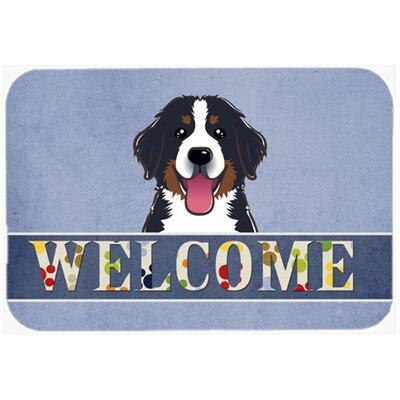 Bernese Mountain Dog Welcome Kitchen/Bath Mat Size: 24
