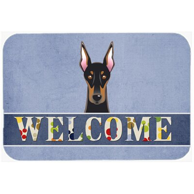 Doberman Welcome Kitchen/Bath Mat Size: 24 W x 36 L
