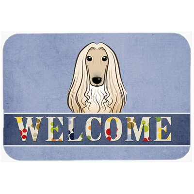Afghan Hound Welcome Kitchen/Bath Mat Size: 24