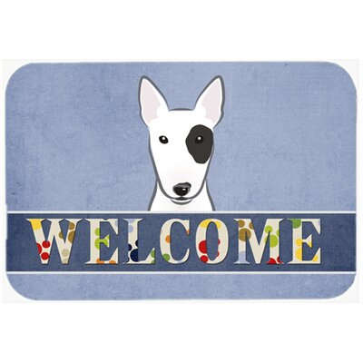 Bull Terrier Welcome Kitchen/Bath Mat Size: 24 W x 36 L