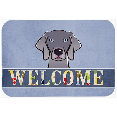 Weimaraner Welcome Kitchen/Bath Mat Size: 20 W x 30 L