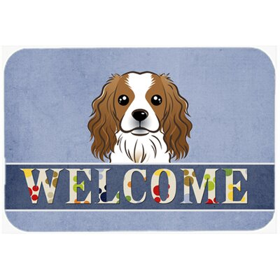 Cavalier Spaniel Welcome Kitchen/Bath Mat Size: 24 W x 36 L