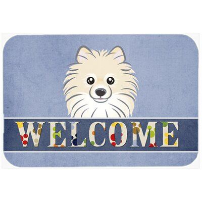 Pomeranian Welcome Kitchen/Bath Mat Size: 24 W x 36 L