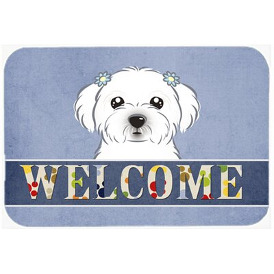 Maltese Welcome Kitchen/Bath Mat Size: 24 W x 36 L