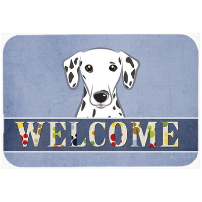 Dalmatian Welcome Kitchen/Bath Mat Size: 24 W x 36 L