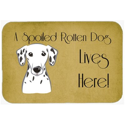 Dalmatian Spoiled Dog Lives Here Kitchen/Bath Mat Size: 24 W x 36 L