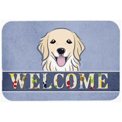 Retriever Welcome Kitchen/Bath Mat Size: 20 W x 30 L