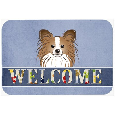 Papillon Welcome Kitchen/Bath Mat Size: 20 W x 30 L