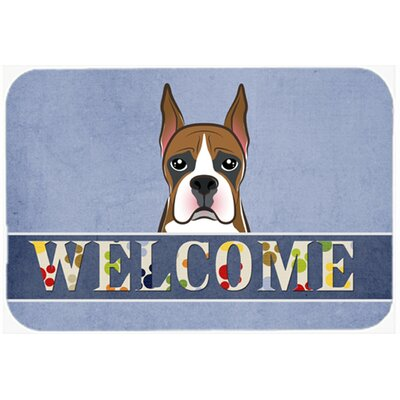 Boxer Welcome Kitchen/Bath Mat Size: 24 W x 36 L