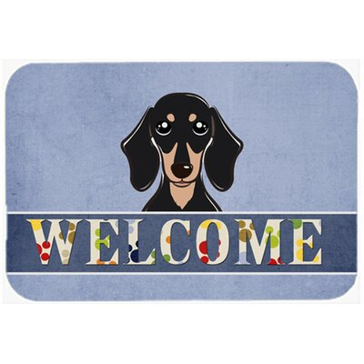 Dachshund Welcome Kitchen/Bath Mat Size: 24 W x 36 L