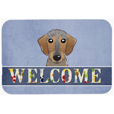 Wirehaired Dachshund Welcome Kitchen/Bath Mat Size: 24 W x 36 L
