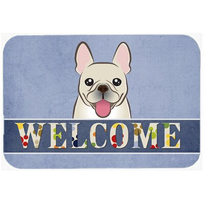 French Bulldog Welcome Kitchen/Bath Mat Size: 24 W x 36 L