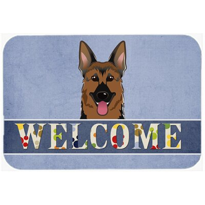German Shepherd Welcome Kitchen/Bath Mat Size: 24 W x 36 L