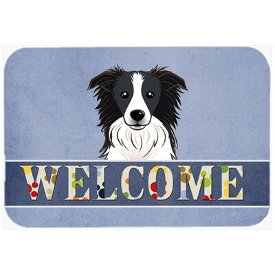 Border Collie Welcome Kitchen/Bath Mat Size: 20 W x 30 L