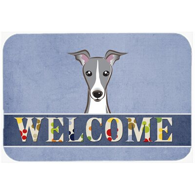Italian Greyhound Welcome Kitchen/Bath Mat Size: 24 W x 36 L