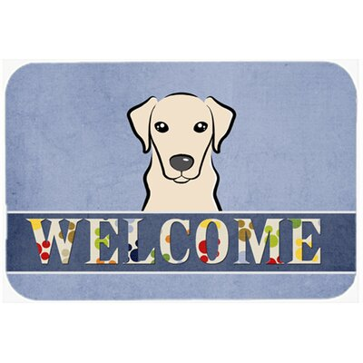 Labrador Welcome Kitchen/Bath Mat Size: 20 W x 30 L, Color: Cream