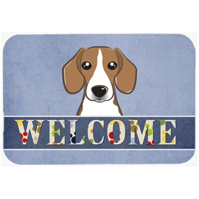 Beagle Welcome Kitchen/Bath Mat Size: 20 W x 30 L