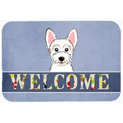 Westie Welcome Kitchen/Bath Mat Size: 24 W x 36 L