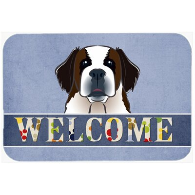 Saint Bernard Welcome Kitchen/Bath Mat Size: 20 W x 30 L