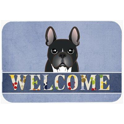 French Bulldog Welcome Kitchen/Bath Mat Size: 24 W x 36 L