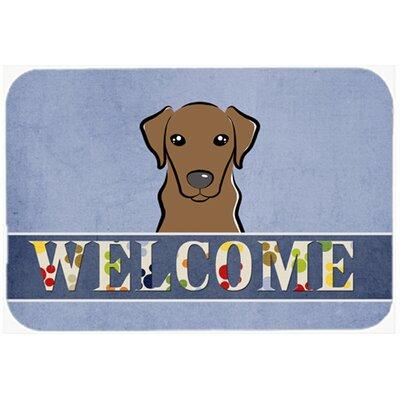 Labrador Welcome Kitchen/Bath Mat Size: 24 W x 36 L, Color: Chocolate