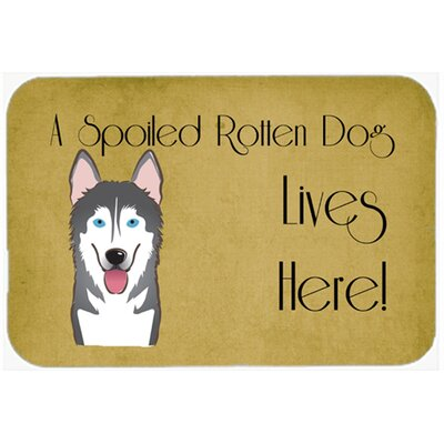 Alaskan Malamute Spoiled Dog Lives Here Kitchen/Bath Mat Size: 20 W x 30 L