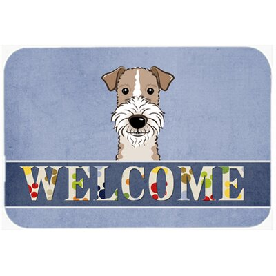 Wire Haired Fox Terrier Welcome Kitchen/Bath Mat Size: 20 W x 30 L