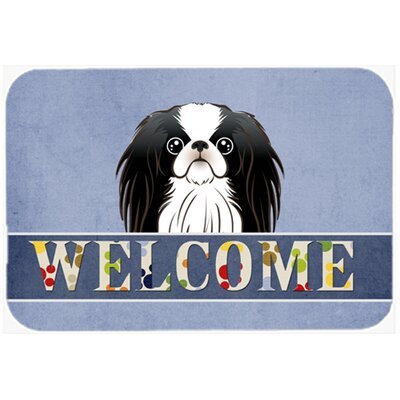 Japanese Chin Welcome Kitchen/Bath Mat Size: 20 W x 30 L