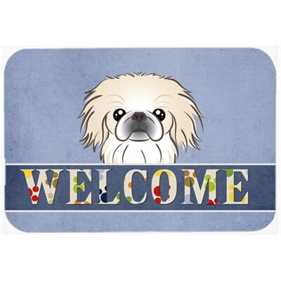 Pekingese Welcome Kitchen/Bath Mat Size: 24 W x 36 L