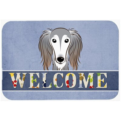 Saluki Welcome Kitchen/Bath Mat Size: 24 W x 36 L