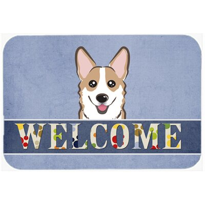 Corgi Welcome Kitchen/Bath Mat Size: 20 W x 30 L, Color: Sable