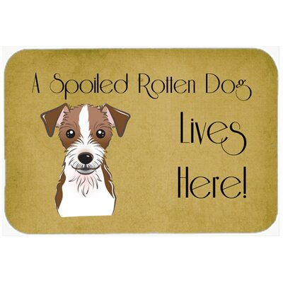 Jack Russell Terrier Spoiled Dog Lives Here Kitchen/Bath Mat Size: 24 W x 36 L