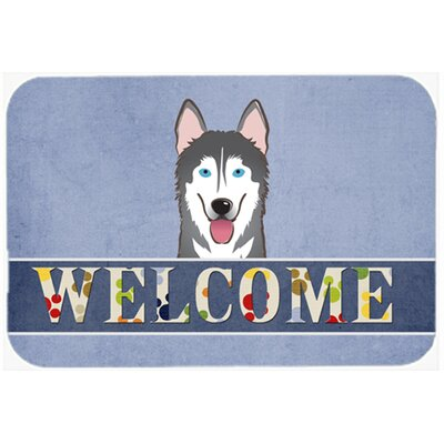Alaskan Malamute Welcome Kitchen/Bath Mat Size: 20 W x 30 L
