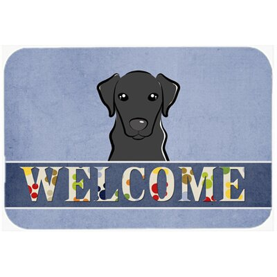 Labrador Welcome Kitchen/Bath Mat Size: 20 W x 30 L, Color: Black