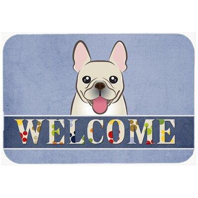 French Bulldog Welcome Kitchen/Bath Mat Size: 20 W x 30 L