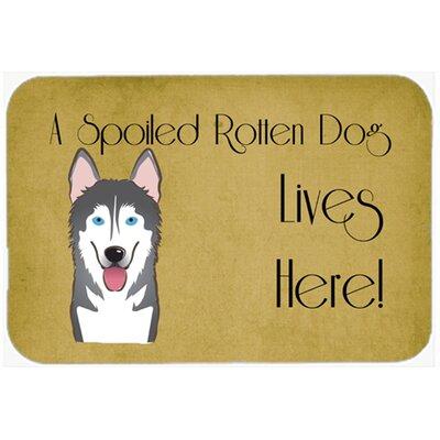 Alaskan Malamute Spoiled Dog Lives Here Kitchen/Bath Mat Size: 24 W x 36 L