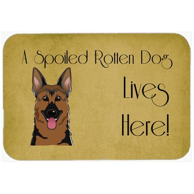 German Shepherd Spoiled Dog Lives Here Kitchen/Bath Mat Size: 24 W x 36 L