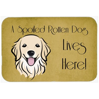 Retriever Spoiled Dog Lives Here Kitchen/Bath Mat Size: 24 W x 36 L