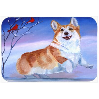 Corgi Snow Cardinal Kitchen/Bath Mat Size: 20