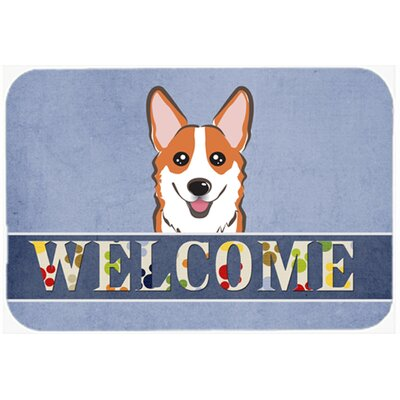 Corgi Welcome Kitchen/Bath Mat Size: 20 W x 30 L, Color: Tan