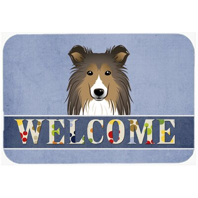 Sheltie Welcome Kitchen/Bath Mat Size: 20 W x 30 L