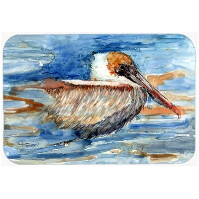 Pelican in the Water Kitchen/Bath Mat Size: 24 W x 36 L