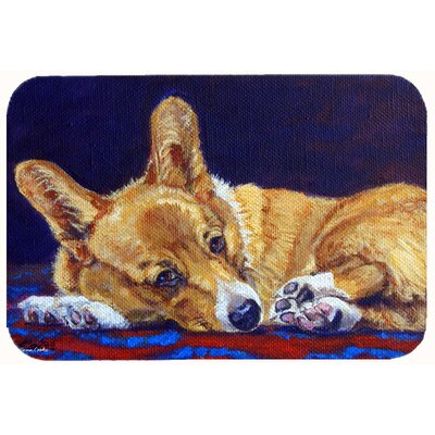 Corgi Lonesome Kitchen/Bath Mat Size: 24 W x 36 L